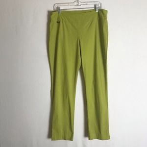 PECK & PECK Light Green Stretch Skinny Leggings